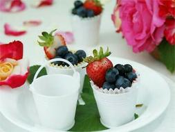 12 pcs WHITE Favor Buckets Wedding Party Gift Packaging Favo