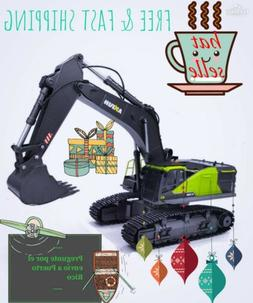 Huina 1593 22 Channel RC Excavator 1:14 strong arm Metal Buc
