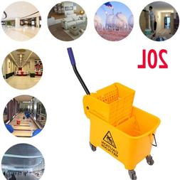 20L Commercial Mop Bucket with Wringer Combo Rolling Cleanin