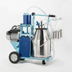 25L Electric Milker Milking Machine For Goats Cows W/Bucket