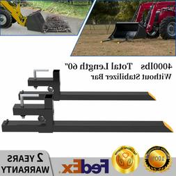"""4000lbs 60"""" Tractor Clamp On Pallet Forks For Skid Steer Loa"""