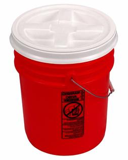 5 Gallon Orange Bucket with Gamma Seal Lid