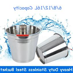 8L Heavy Duty Stainless Steel Bucket with Handle Restaurant