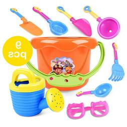 9Pcs /Set Tiny Beach Playing Toys Sand Tools Bucket For Todd