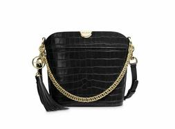 Michael Kors Bea Medium Crocodile-Embossed Leather Bucket Xb