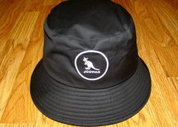 Black  KANGOL  Cotton Bucket Hat  Style  K2117SP