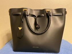 MICHAEL KORS BLAKELY SMOOTH LEATHER BUCKET SHOULDER BAG BLAC