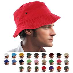 Bucket Hat Cap Boonie 100% Cotton Fishing Military Hunting S