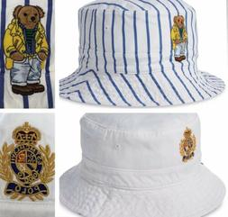 Polo Ralph Lauren Bucket Hat Reversible BEAR - Crest Cap Str
