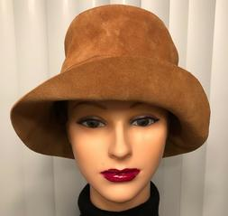 GAP Caramel Colored Suede Leather Bucket Hat