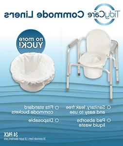 TidyCare Commode Liners – Convenience Pack XL - Bedside Co