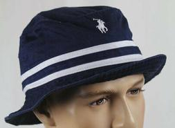 Polo Ralph Lauren Cotton Chino Bucket Hat Golf Sun Beach Nav