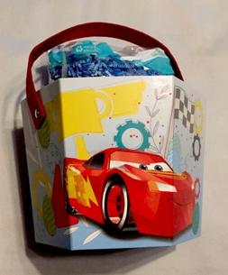 Disney Cars Easter Basket Paperboard Bucket With Grass, NEW