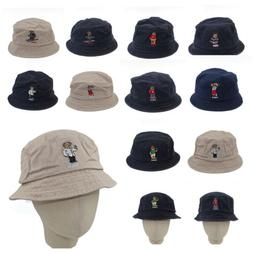 Polo Embroidery USA Hockey Beach Teddy Bear Series Bucket Ha