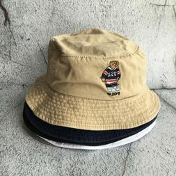 Polo Embroidery USA Hockey Teddy Bear Daddy Hat Bucket Cap 4