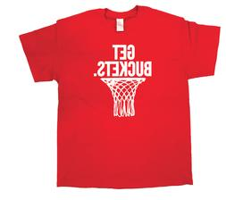 Get Buckets T Shirt Basketball Hoops Life Ball