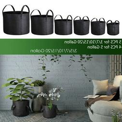 Grow Bags Fabric Pots Root Pouch with Handles Planting Conta