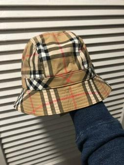 Burberry Hat Cap Bucket Limited Edition Lgbtq M/L Plaid Stri