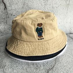 Polo Hat Embroidery Stripe Bear Men's 4 Colors Bucket Hat So