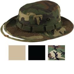 Heavy Duty Boonie Hat Military Jungle Bucket Cap Wide Brim S