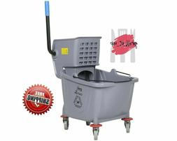 Industrial Lavex Janitorial Grey 36 Quart Mop Bucket & Wring