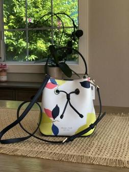 KATE SPADE EVA LEMON ZEST SMALL BUCKET SHOULDER TOTE BAG WHI