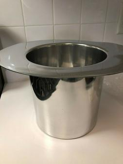 Kate Spade Metal Ice Bucket BOTTOMS UP Top Hat Two of a Kind