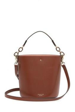 Kate Spade Suzy Small Bucket Bag Italian Leather Brown  NEW