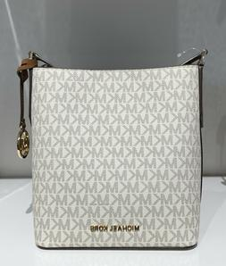 Michael Kors Kimberly MK Signature Small Bucket Crossbody Ba