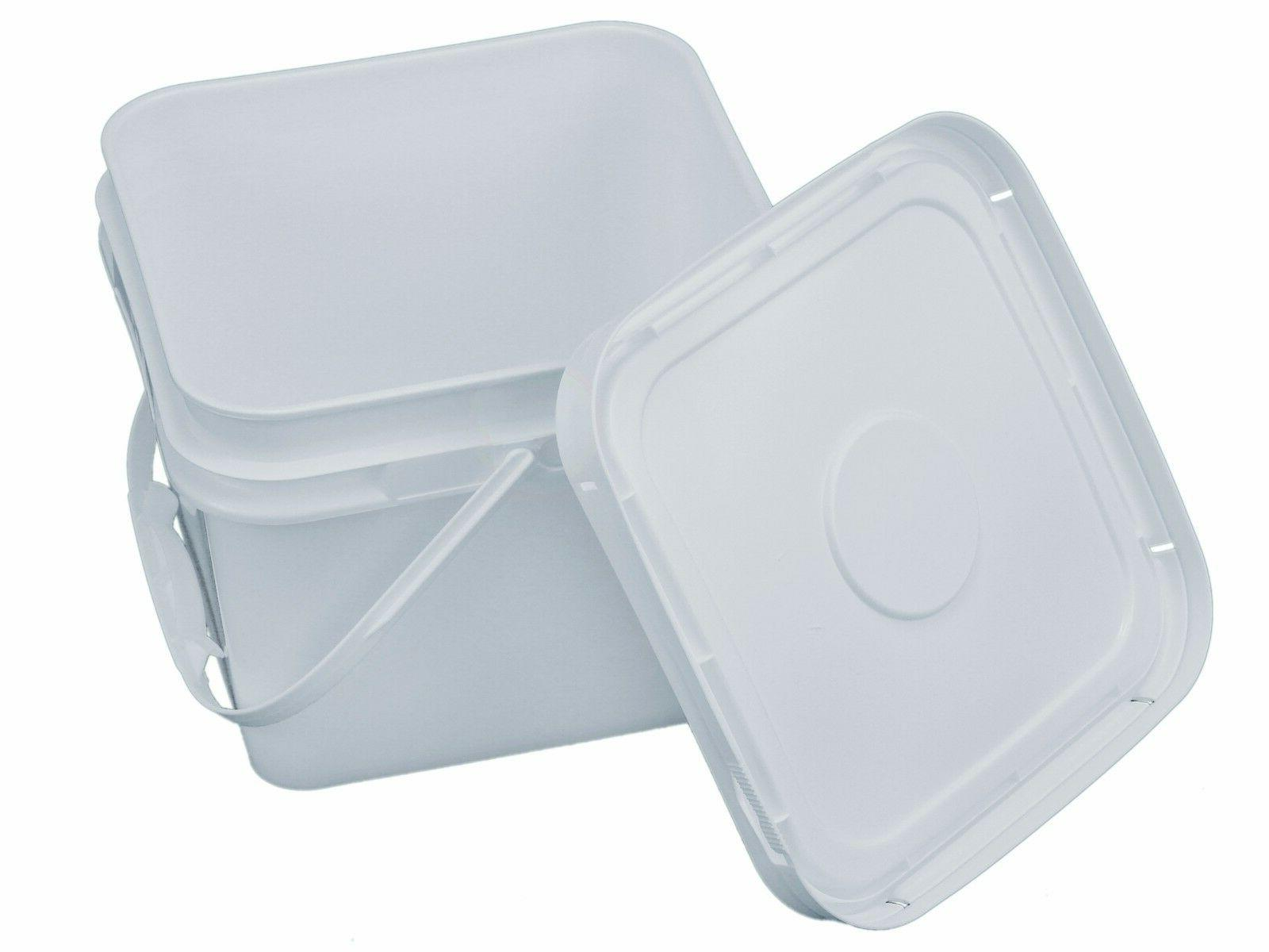 2 gallon square bucket with snap on