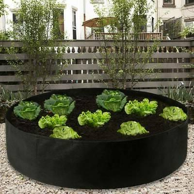 3 Pots Pouch Bag Container Container Garden Round Fabric US