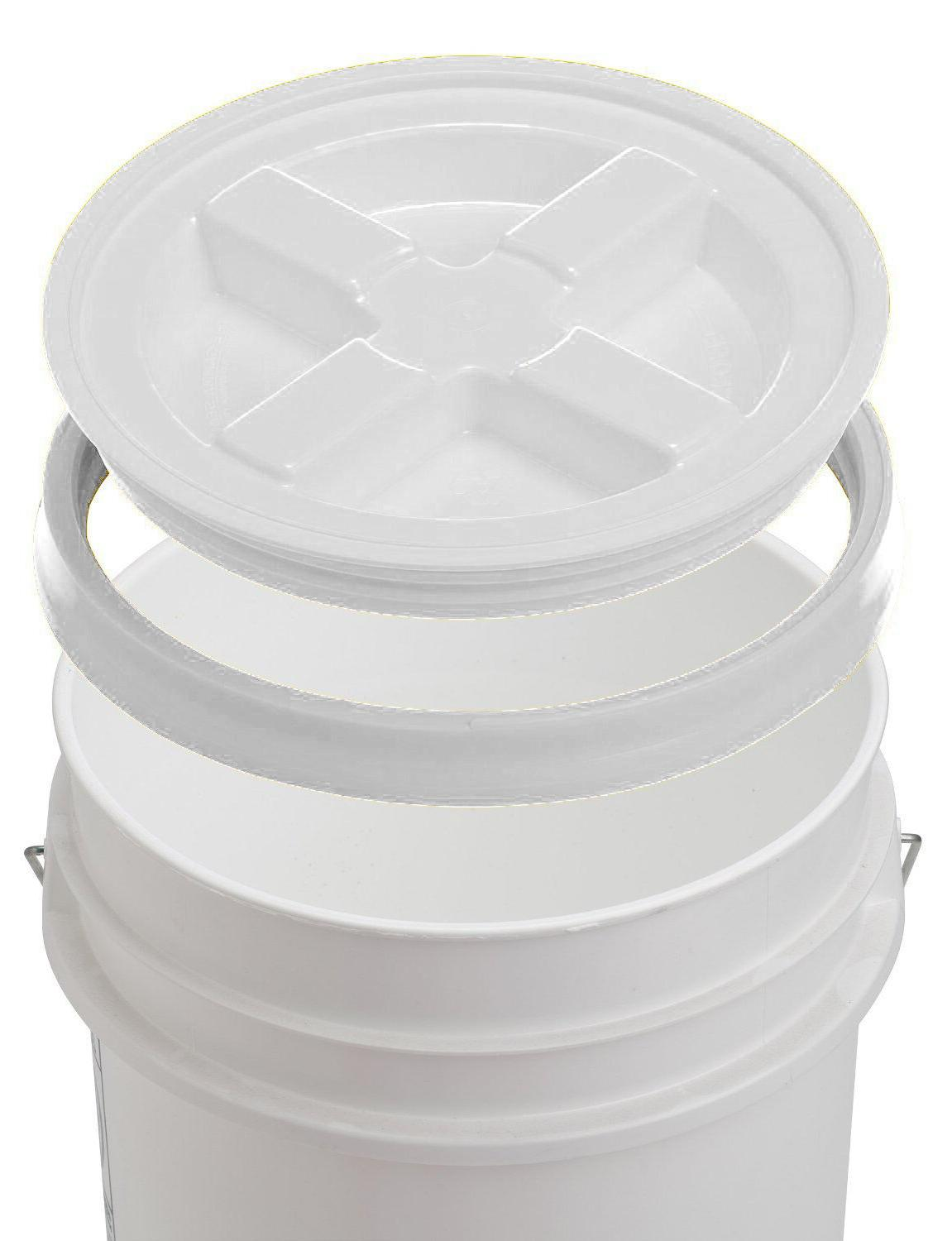 5 gallon white bucket with gamma seal