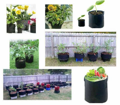 5 Grow Fabric Pots Root Handle Planting Gallon