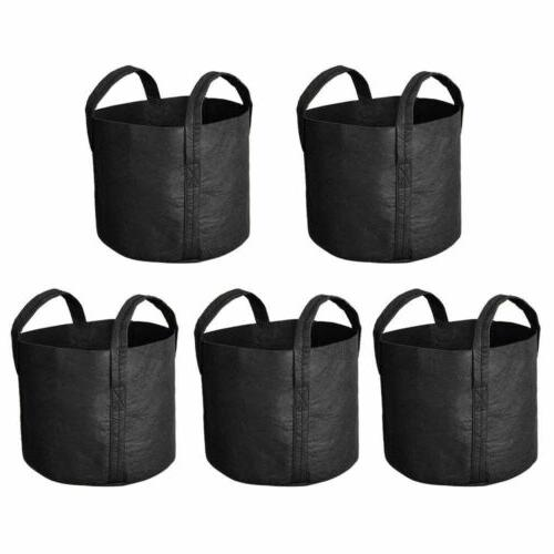 5 pack grow bags fabric pots root