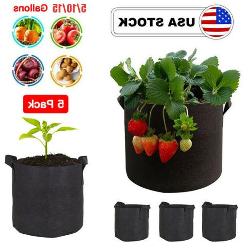 5 pack grow bags garden aeration plant