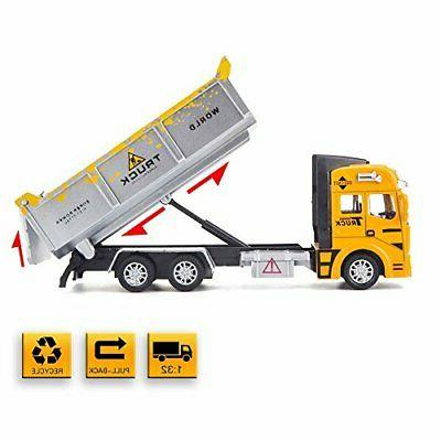 diecast toy cars with dump truck bucket