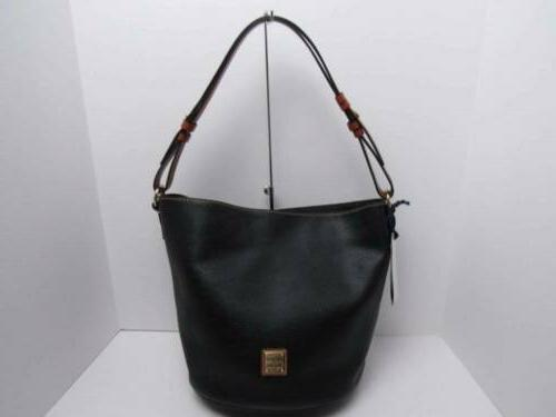 dooney and bourke black pebble leather thea