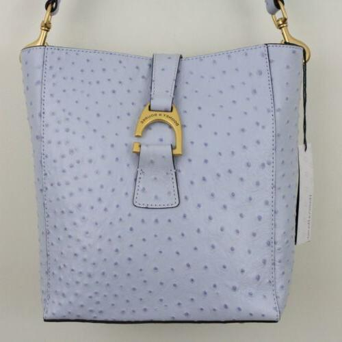Dooney & Bourke Glacier Blue Leather Brynn Bucket Shoulder Bag $308