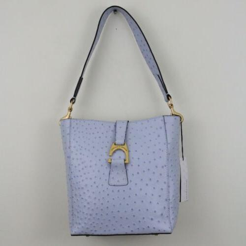 dooney and bourke ostrich glacier blue leather