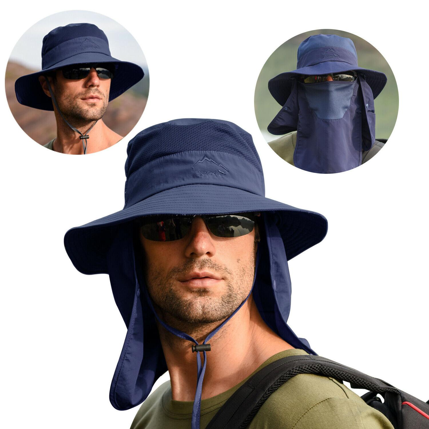Fishing Bucket Cap Wide Protection Neck Flap
