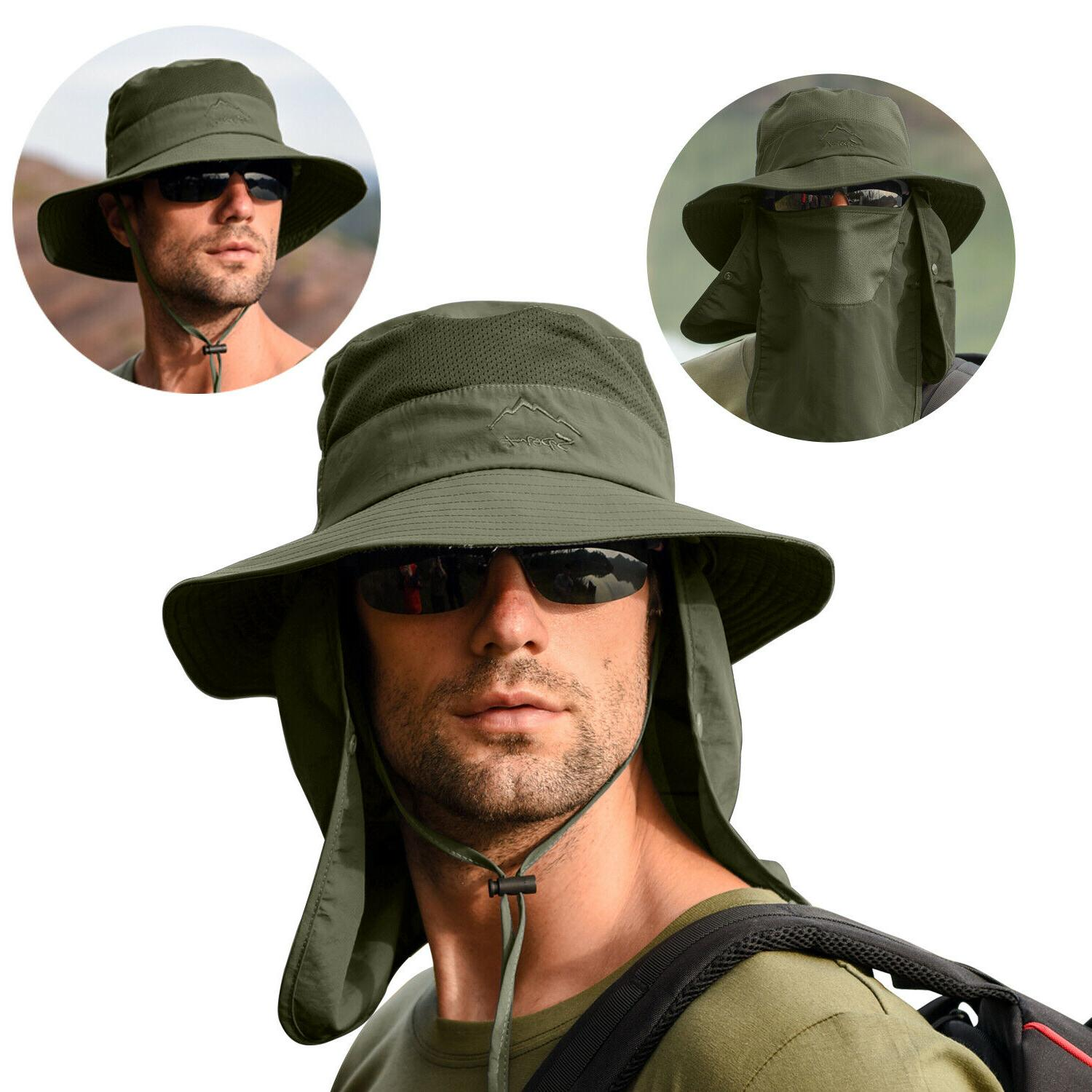 Fishing Wide Brim Hat Sun Protection Neck Flap