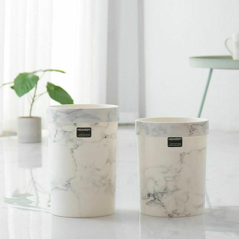 Trash Cans Marble Pattern Storage