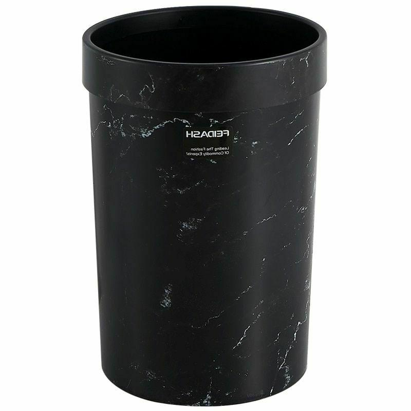 Home Eco-Friendly Trash Cans Marble Pattern Storage Bucket