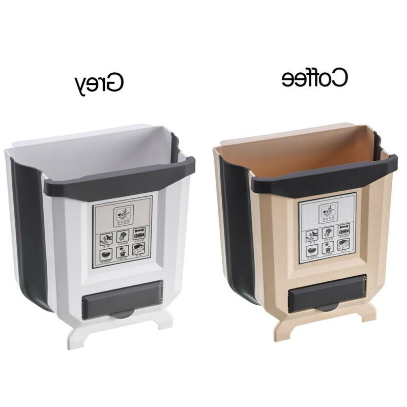 Kitchen & Dining Trash Can Storage Folding Waste Can