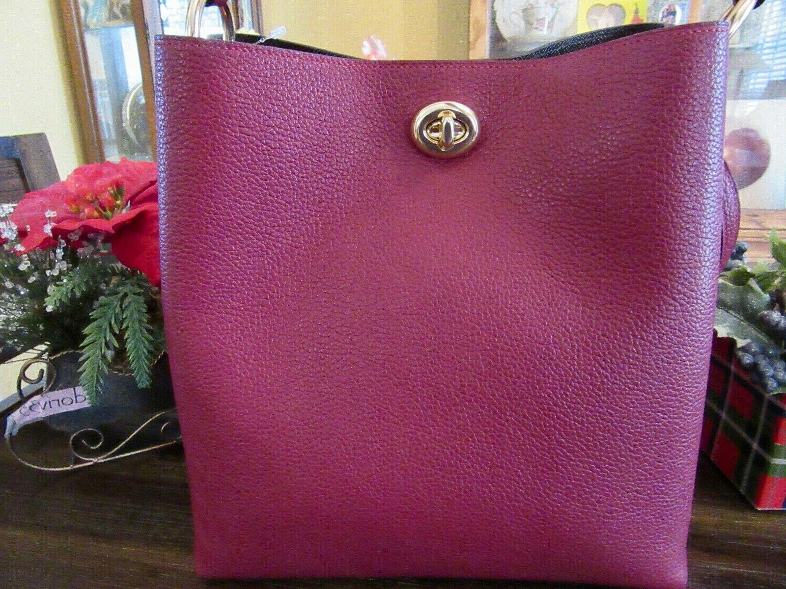 New Red Polished Charlie Purse
