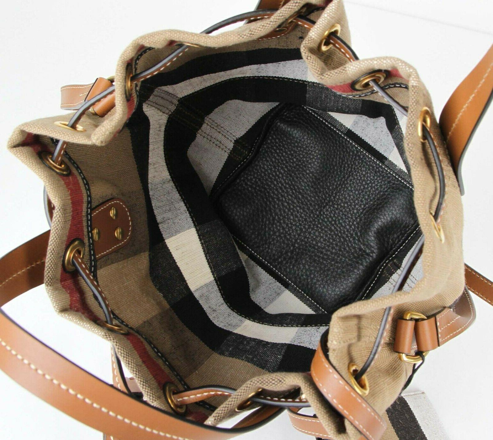 New Grainy Canvas Check Heston Drawstring Bucket