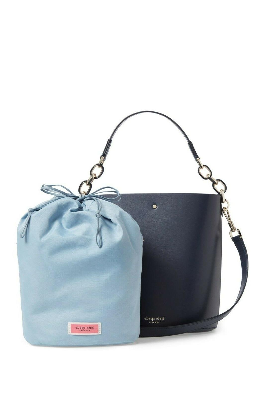 NWT Authentic Kate New York Leather Bucket Bag