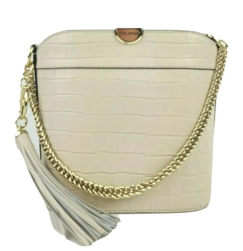 shoulder bag medium embossed leather bea bucket