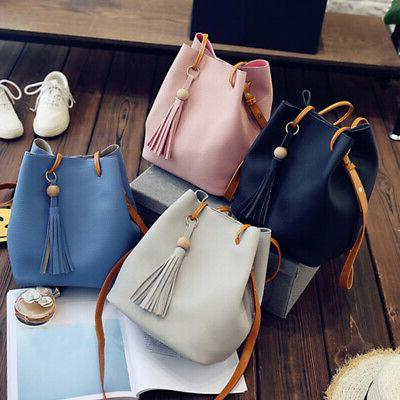 Simple drawstring bag bucket bag hobo bag fashion tassel pen