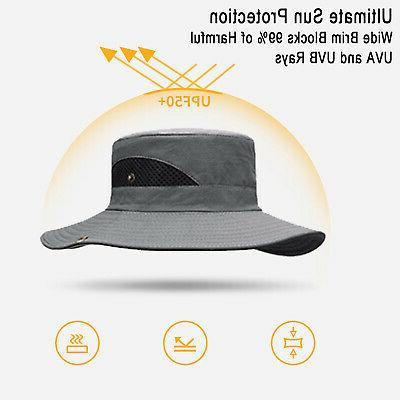 Sun for Sun Protection Wide Brim Bucket Hat Waterproof Breathable